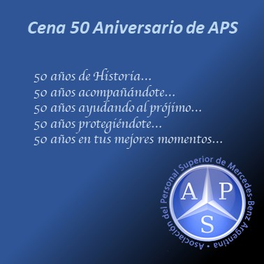 CENA 50 ANIVERSARIO APS